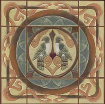 Feature tile art nouveau for Art nouveau tile mural