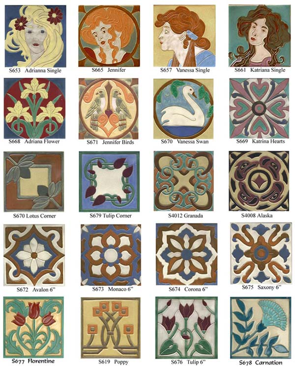 Feature tile arts crafts for Arts and crafts tiles
